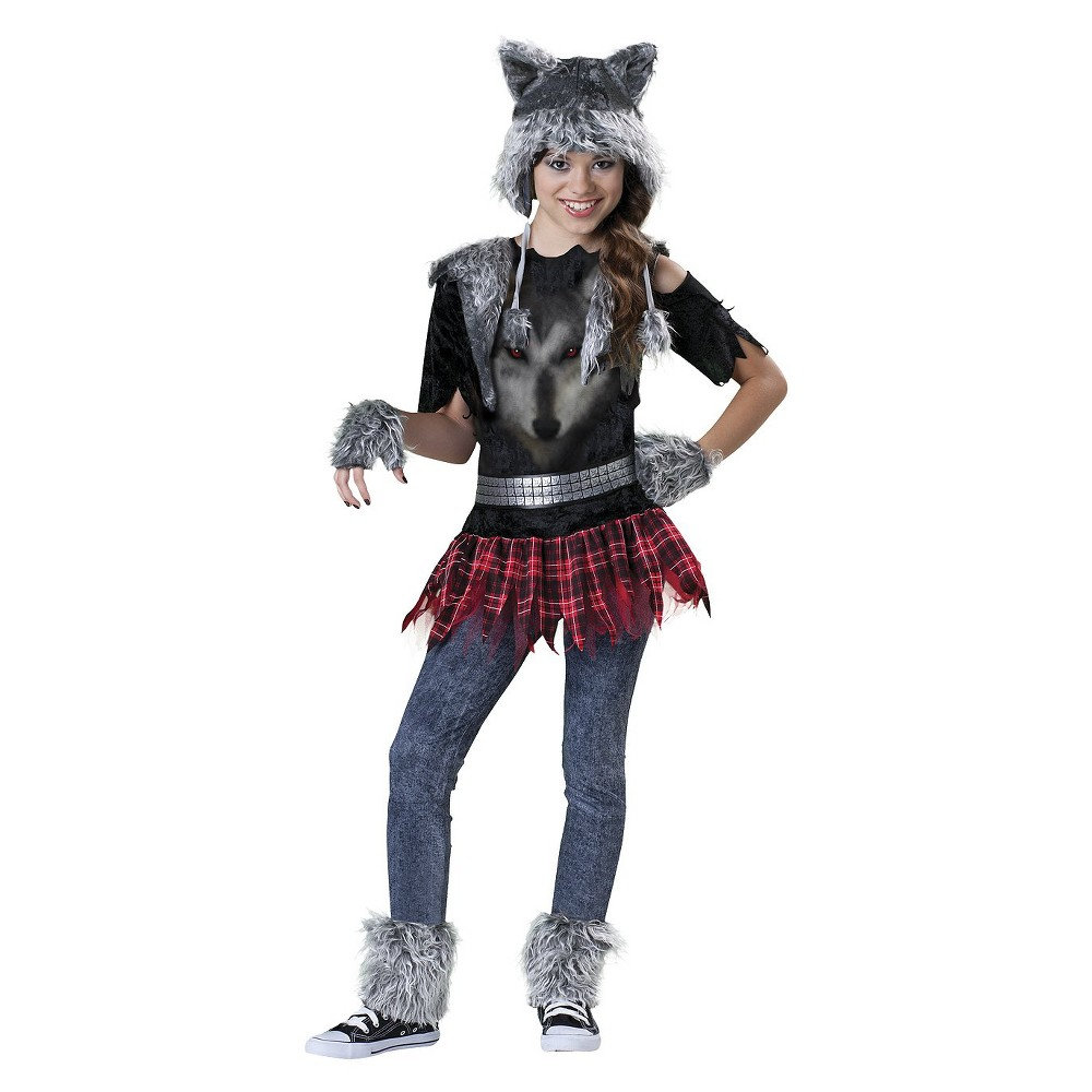 Image of Halloween Girls' Wear Wolf Costume Medium (7-8), Girl's, Size: Medium(7-8)