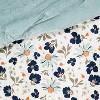 Dusty Jade Reversible Velvet Floral Print Comforter & Sham Set - Opalhouse™ - image 4 of 4