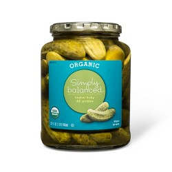 Organic Kosher Baby Dill Pickles 32 fl oz - Simply Balanced™