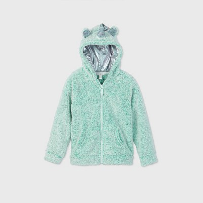 Girls' Sherpa Unicorn Zip-Up Hoodie - Cat & Jack™ Mint