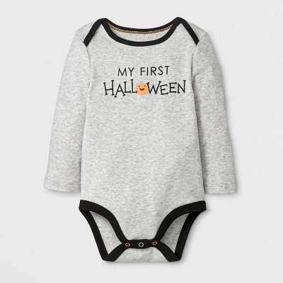 Baby's Long Sleeve Bodysuit - Cloud Island™ Gray Newborn