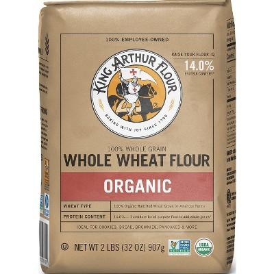 Flours & Meals: King Arthur Organic Whole Wheat Flour