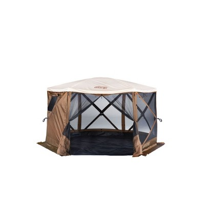 CLAM Quick-Set Outdoor Gazebo Screen Tent Canopy Accessory Rain Fly Roof Tarp for Added Weather Protection, Tan (Tent Not Included)