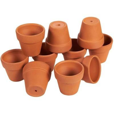 "Juvale 10 Pack Terra Cotta Clay Pots, Small Plant Pots, Planters for Succulents & Cactus 2.6 x 2.6 x 2.5"""