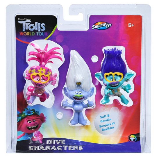 DreamWorks Trolls Dive Characters (3pk) image number null