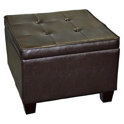 Modern Room Fit Storage Ottoman Brown - Ore International