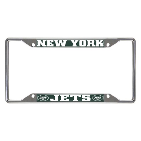 NFL New York Jets Stainless Steel License Plate Frame - image 1 of 3