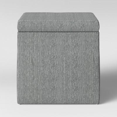 Plano Square Storage Ottoman Blue Stripe - Project 62™