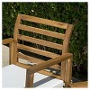 Emilano 4pc Acacia Wood Patio Chat Set with Cushions - Natural Stained - Christopher Knight Home - image 3 of 4