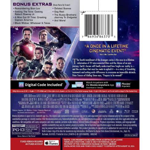 Avengers Endgame (Target Exclusive) (4K/UHD + Blu-Ray + Digital)