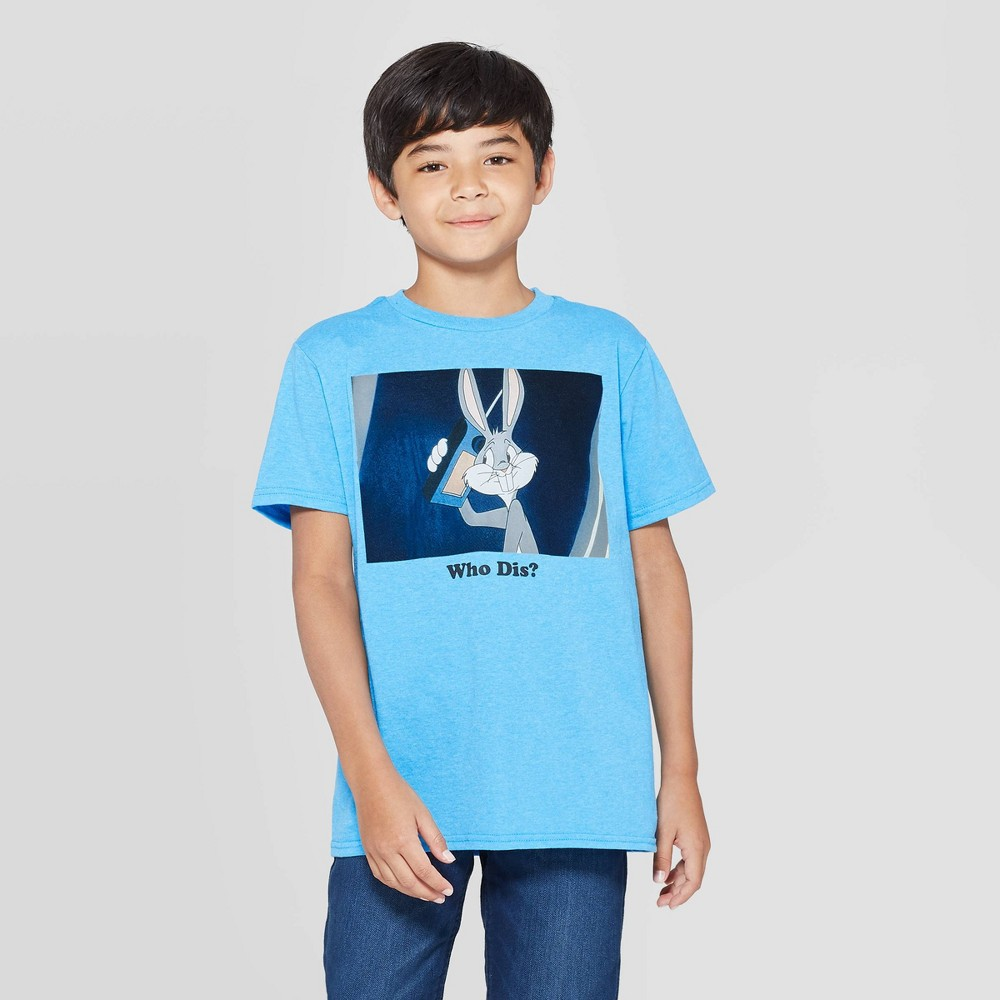Image of petiteBoys' Warner Bros. Bugs Bunny Short Sleeve T-Shirt - Blue L, Boy's, Size: Large, Blue Gray
