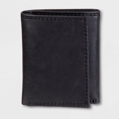 Men's RFID Extra-Capacity Trifold Wallet - Goodfellow & Co™ Black One Size
