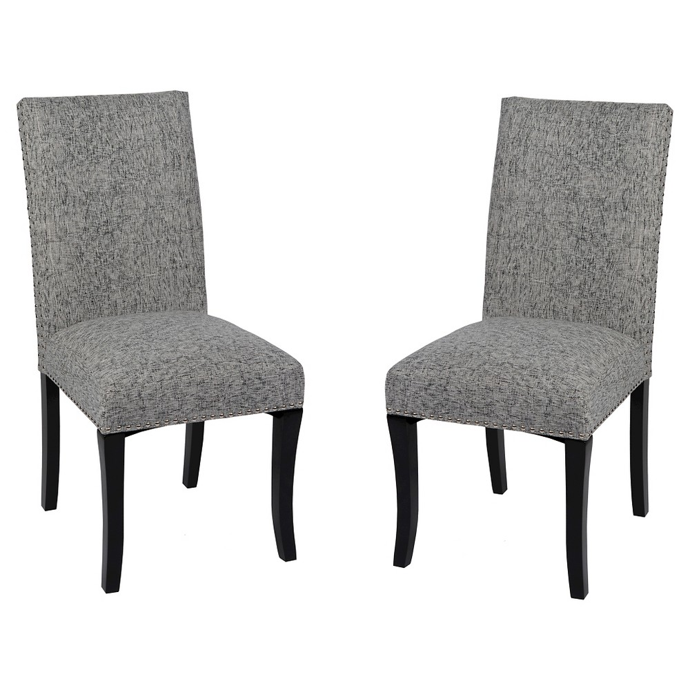 Accent Nail Side Dining Chair (Set of 2) - Armen Living, Grey