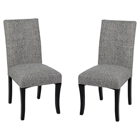 Awe Inspiring Accent Nail Side Dining Chair Set Of 2 Armen Living Caraccident5 Cool Chair Designs And Ideas Caraccident5Info