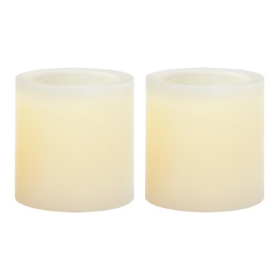 2.6  x 2.8  2pk Vanilla Scented LED Tealight Candle Set Cream - Made By Design™