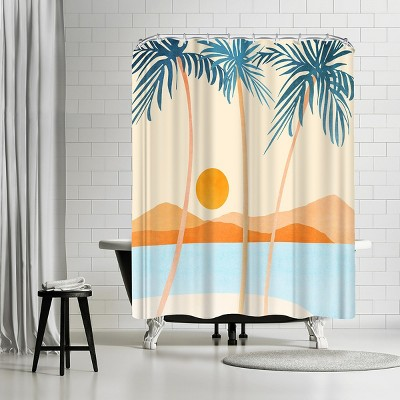 "Americanflat Baja California Coast by Modern Tropical 71"" x 74"" Shower Curtain"