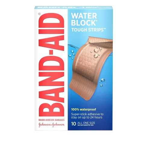 Band-Aid Tough Strip Waterproof - 10ct - image 1 of 4
