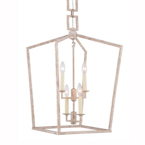 "Elegant Lighting 1512D17 Denmark Wide 4 Light 17"" Wide Single Cage Style Taper Candle Pendant from the Urban Classic Collection - image 1 of 4"