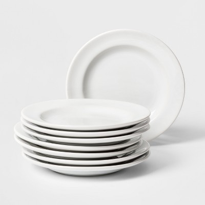 Porcelain Rimmed Appetizer Plate 6.5  White - Threshold™
