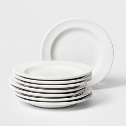 "Porcelain Rimmed Appetizer Plate 6.5"" White - Threshold™"