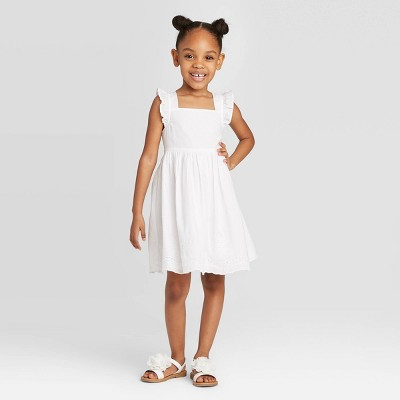 OshKosh B'gosh Toddler Girls' Tank Top Eyelet Dress - White 12M
