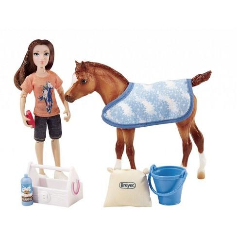"Breyer Classics Bath Time Fun 6"" Doll and Pony Activity Set - image 1 of 1"