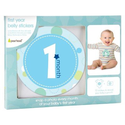 Pearhead Baby Milestone Belly Stickers - Boy