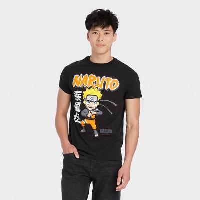 Men's Naruto Short Sleeve Graphic T-Shirt - Black