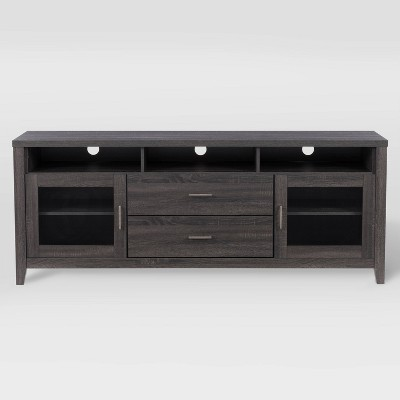 """Hollywood TV Cabinet with Drawers For TV's up to 80"""" Dark Gray - CorLiving"""