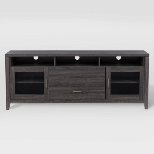 """Hollywood Cabinet with Drawers TV Stand for TVs up to 80"""" Dark Gray - CorLiving"""