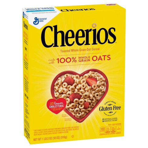 Cheerios Whole Grain Oat Breakfast Cereal - 18oz - General Mills - image 1 of 4