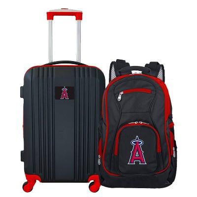 MLB Los Angeles Angels 2 Pc Carry On Luggage Set