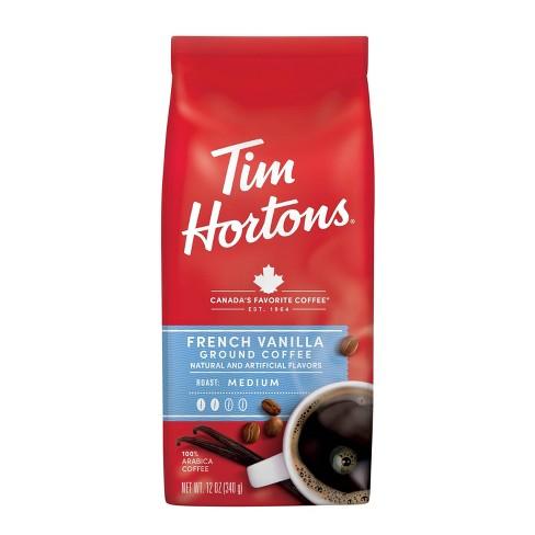 Tim Hortons French Vanilla Medium Roast Ground Coffee - 12oz