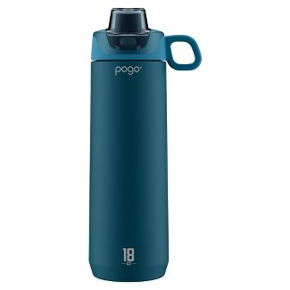 Pogo Sport 18oz Chug Stainless Steel Water Bottle - Blue
