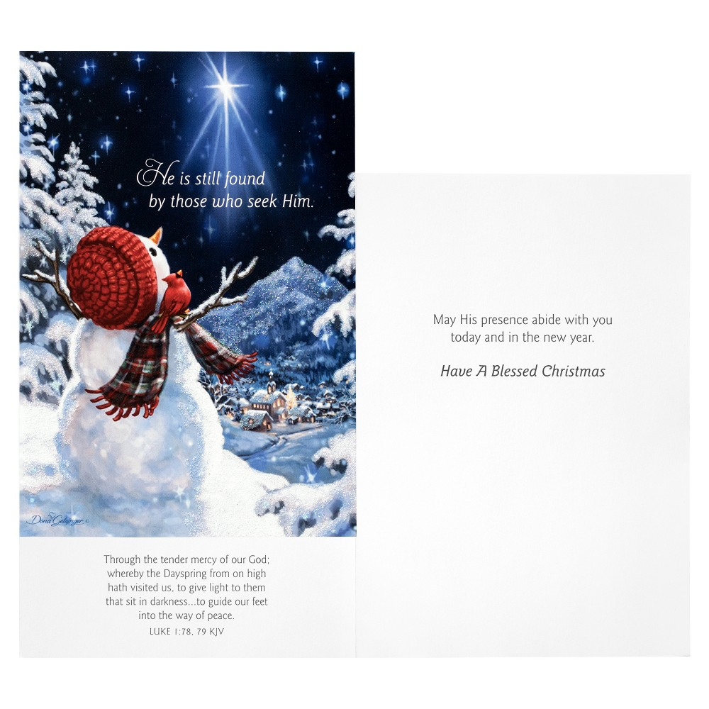 14ct Dayspring Snowman Gazer Holiday Boxed Cards, Multi-Colored