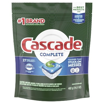 Cascade Complete ActionPacs Dishwasher Detergent - Fresh Scent - 27ct