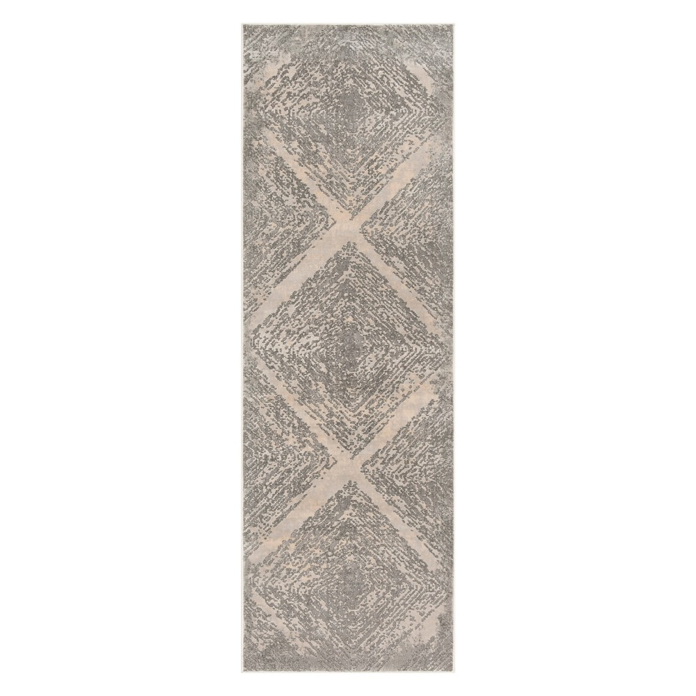 27X8 Shapes Accent Rug Taupe - Safavieh Top