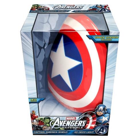 Marvel 3d wall night led light captain america target 2 more aloadofball Gallery