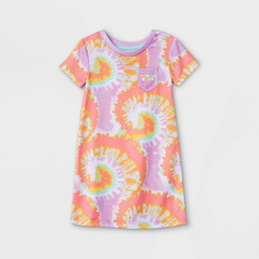 Toddler Girls 39 Tie Dye Nightgown Cat 38 Jack 8482 Lilac 3t