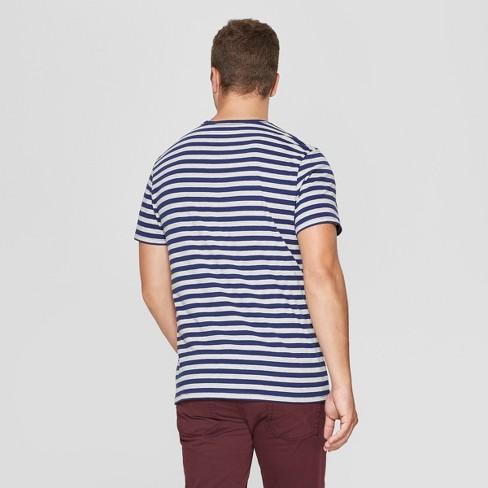 a3add456 Men's Striped Standard Fit Short Sleeve Novelty Crew T-Shirt - Goodfellow &  Co™