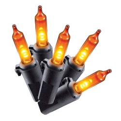 Philips 60ct Halloween LED Smooth Mini String Lights Orange