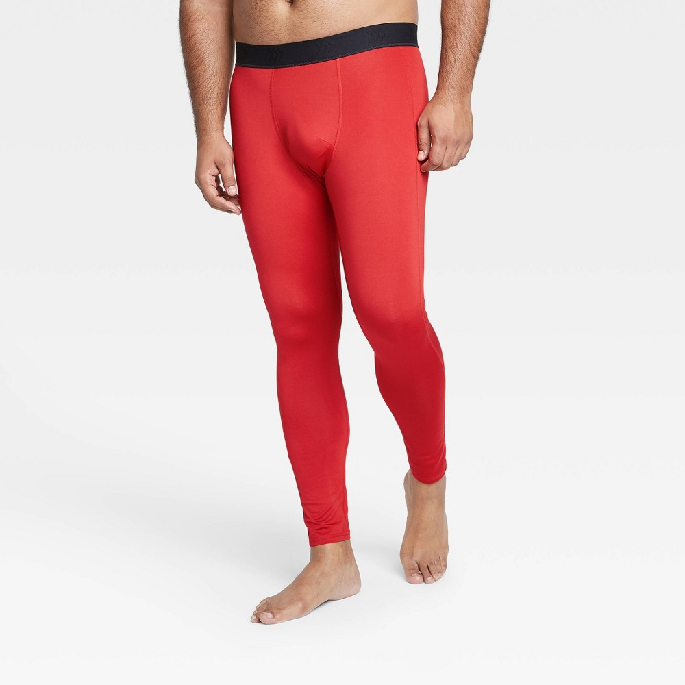 Men 39 S Fitted Tights All In Motion 8482 Red M