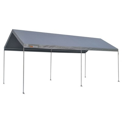 True Shelter 10 x 20 Foot All Weather Protection Sun Blocker Portable Car Canopy