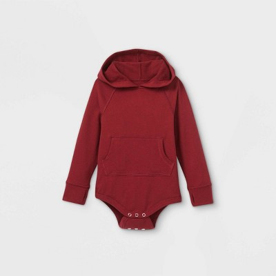 Toddler Boys' Adaptive Hooded Adjustable Bodysuit - Cat & Jack™ Burgundy