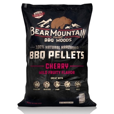 Bear Mountain BBQ FK13 Premium All-Natural Hardwood Mild and Fruity Cherry BBQ Smoker Pellets for Outdoor Grilling, 20lbs