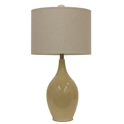 "27"" Anabelle Ceramic Desk Lamp Caramel - Decor Therapy"