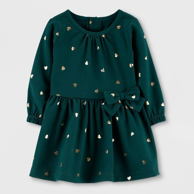 Toddler Girls' Emerald Long Sleeve Dress   Just One You® Made By Carter's Green by Just One You Made By Carter's