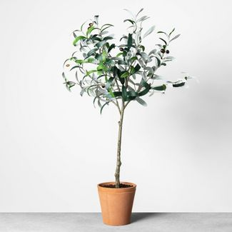 """32"""" Faux Olive Branch Plant - Hearth & Hand™ with Magnolia"""