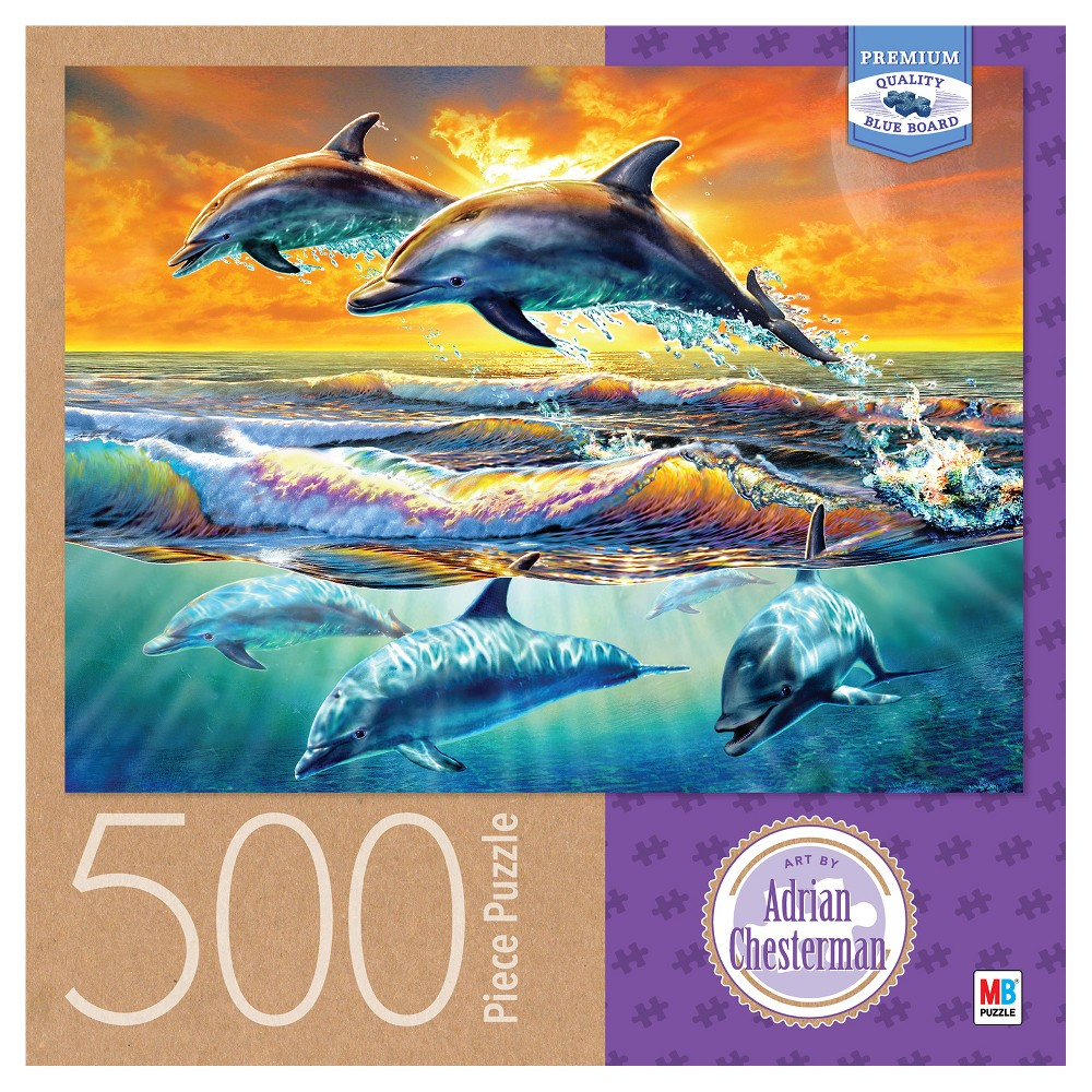 Adrian Chesterman Dolphins Dawn 500pc Puzzle