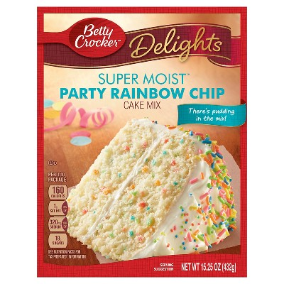 Baking Mixes: Betty Crocker Super Moist Delights Rainbow Chip Cake Mix